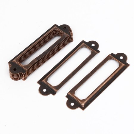 Drawer Cabinet Antique Metal Label Pull Holder Frame 10pcs - image 2 of 2