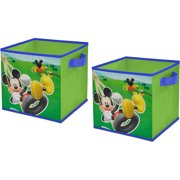 Disney Mickey Mouse Fun Storage Collapsible Set of 2 Cubes