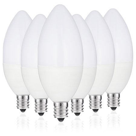 JCase LED Light Bulbs Candelabra Base, 6w(60w Incandescent ...