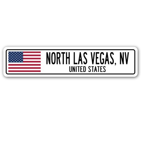 NORTH LAS VEGAS, NV, UNITED STATES Street Sign American flag city country   gift