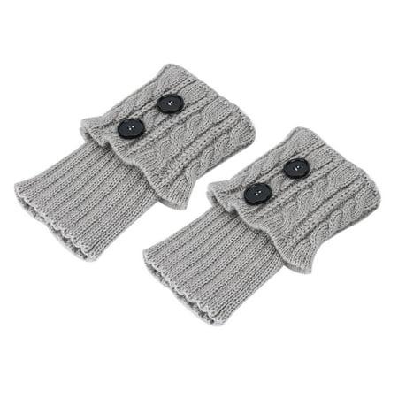 Ejoyous Short Boot Cuffs Knit Leg Warmer Winter Crochet Socks Button Toppers , Women Leg Warmers, Cochet Socks Toppers