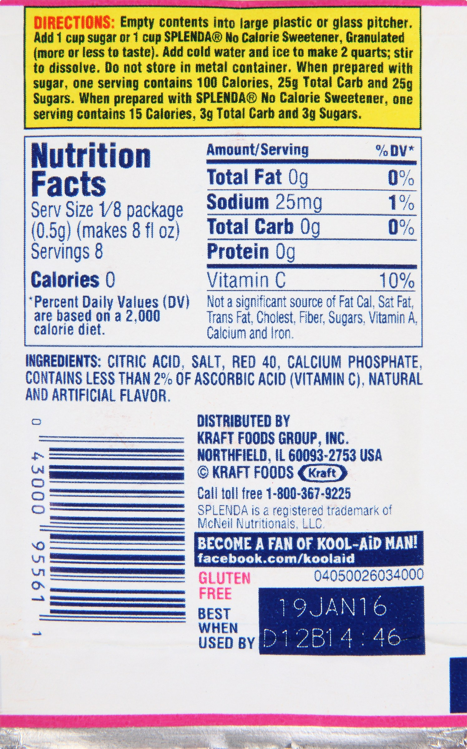 nutrition and kraft foods inc