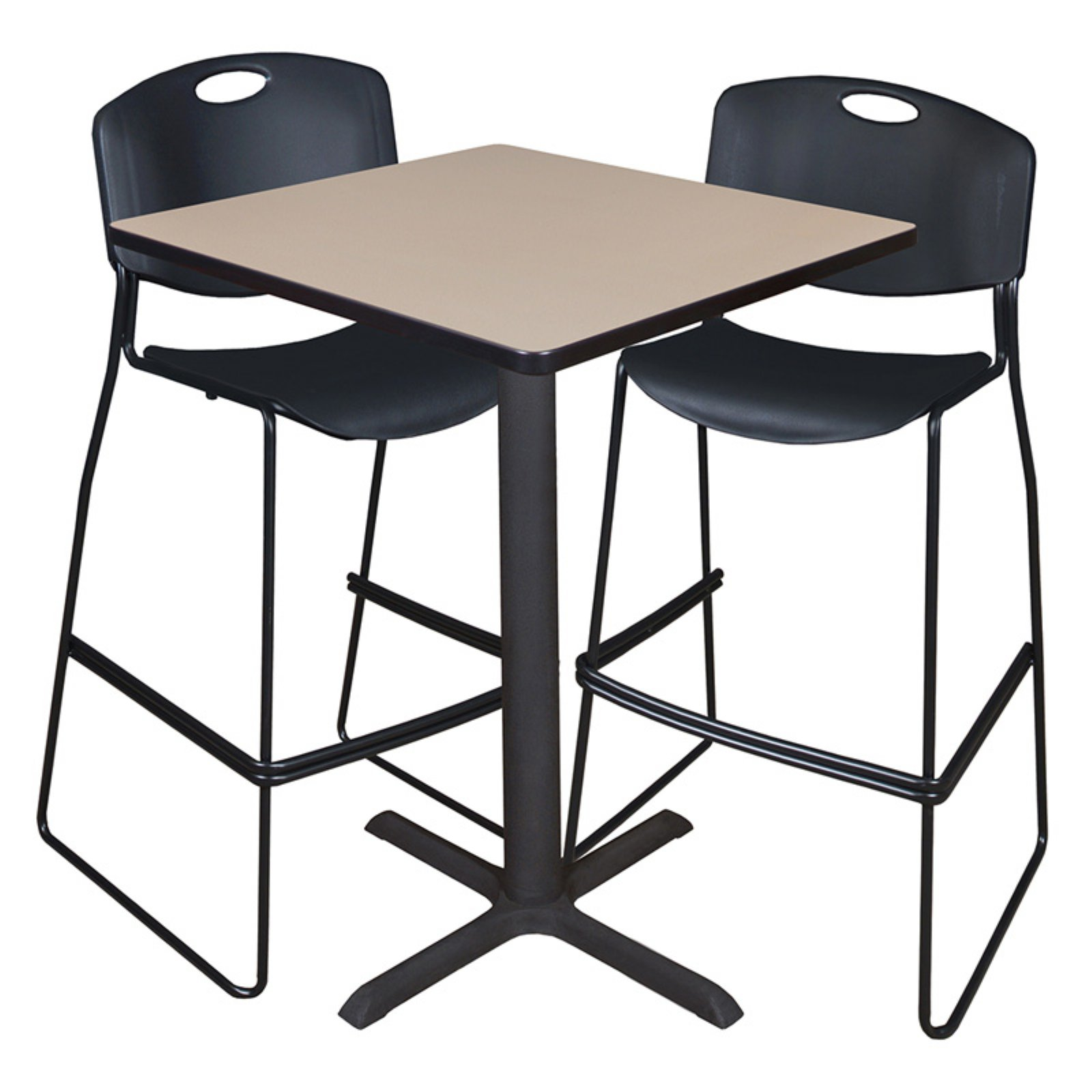 """Regency Cain 30"""" Square Caf Table in Multiple Colors & 2 ..."""