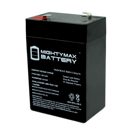 6 Volt 6v 4.5ah Rechargeable Deer Game Feeder Battery (Feeders Battery 6 Volt Charger)