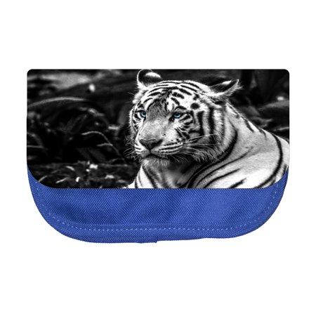 Pencil Pouch Animal Tiger Bengal Pencil Pouch 2 Pocket Pencil Case Organizer Pencil Bag Blue