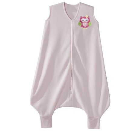HALO Early Walker SleepSack Wearable Blanket, Microfleece, Pink Sleepy Owl, Large