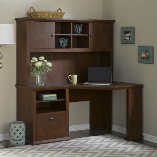 Bush Furniture Yorktown Corner Desk and Hutch