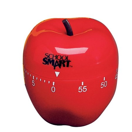 School Smart Apple Shaped Timer with Bell, 3 Inch Diameter, 60 Minutes](3 Minutes Timer)