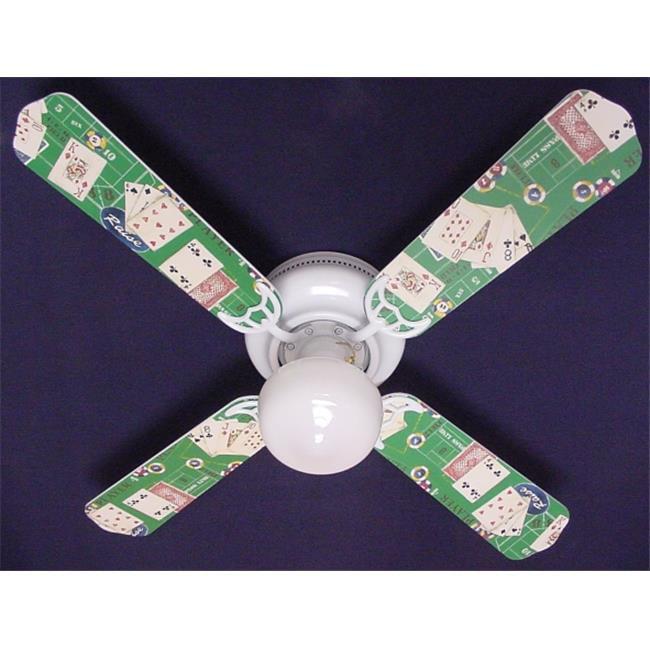 Ceiling Fan Designers 42FAN-HOME-PCG New POKER CARDS CASINO CRAPS BLACK JACK Ceiling Fan 42''
