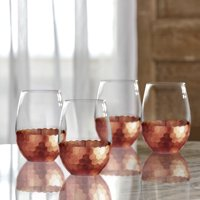 Better Homes & Gardens Copper Honeycomb Finish Stemless Glass