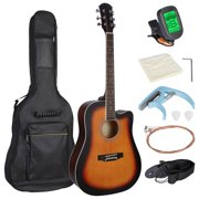 """41"""" Beginners Acoustic Guitar Set w/ Case, Strap, Tuner,Strings for Beginners Starter Kids Girls Youths Students"""