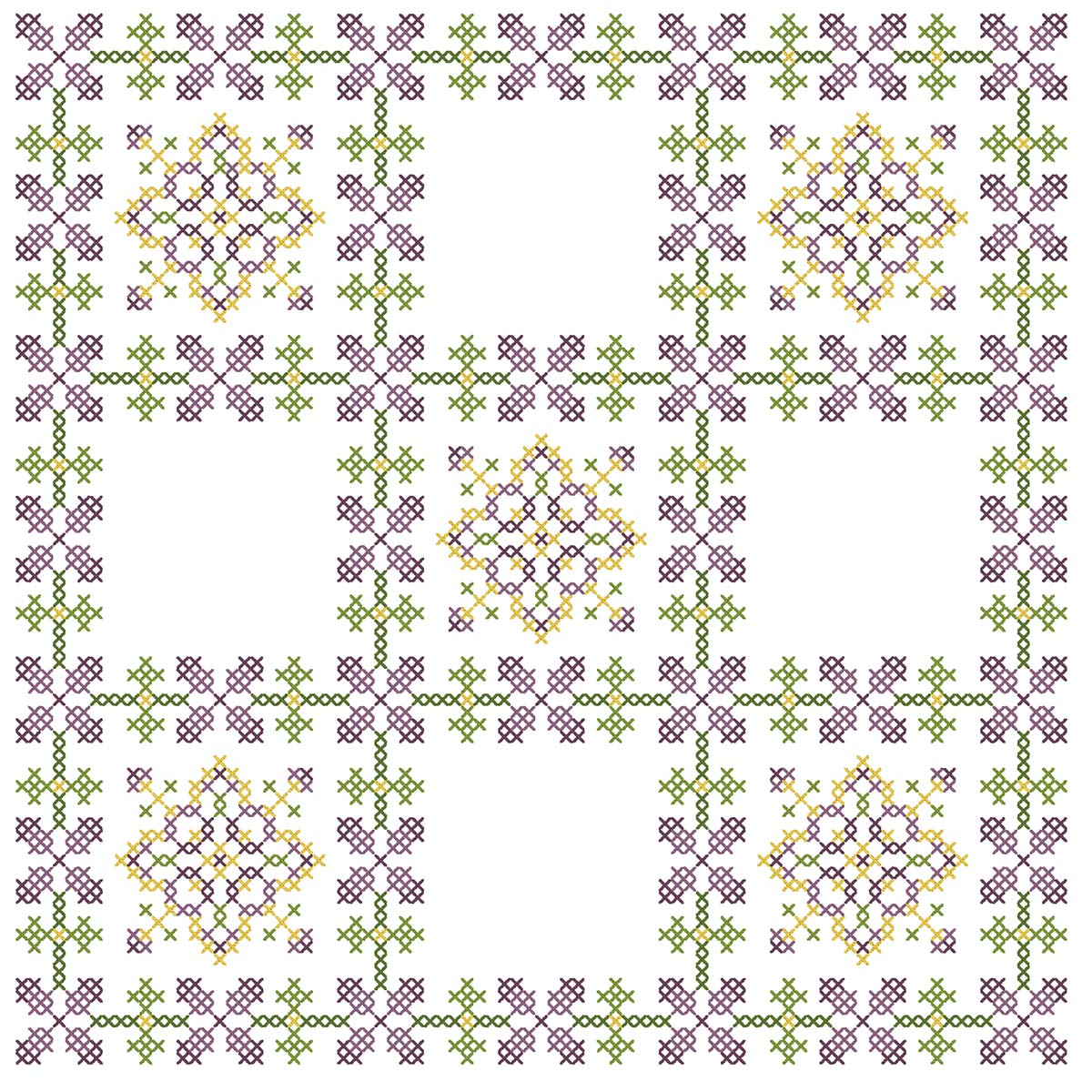 Herrschners® Floral Kaleidoscope Quilt Blocks Stamped Cross-Stitch