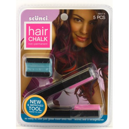 Non Applicator (Scunci Non Permanent Hair Chalk - Pink & Green Chalk Plus Applicator)