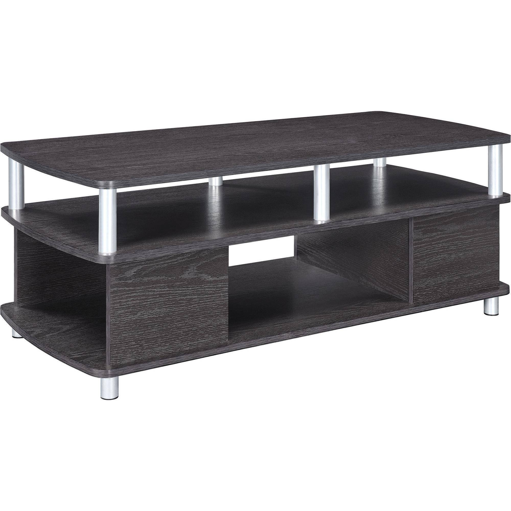 Ameriwood Home Carson Coffee Table, Espresso/Silver   Walmart.com