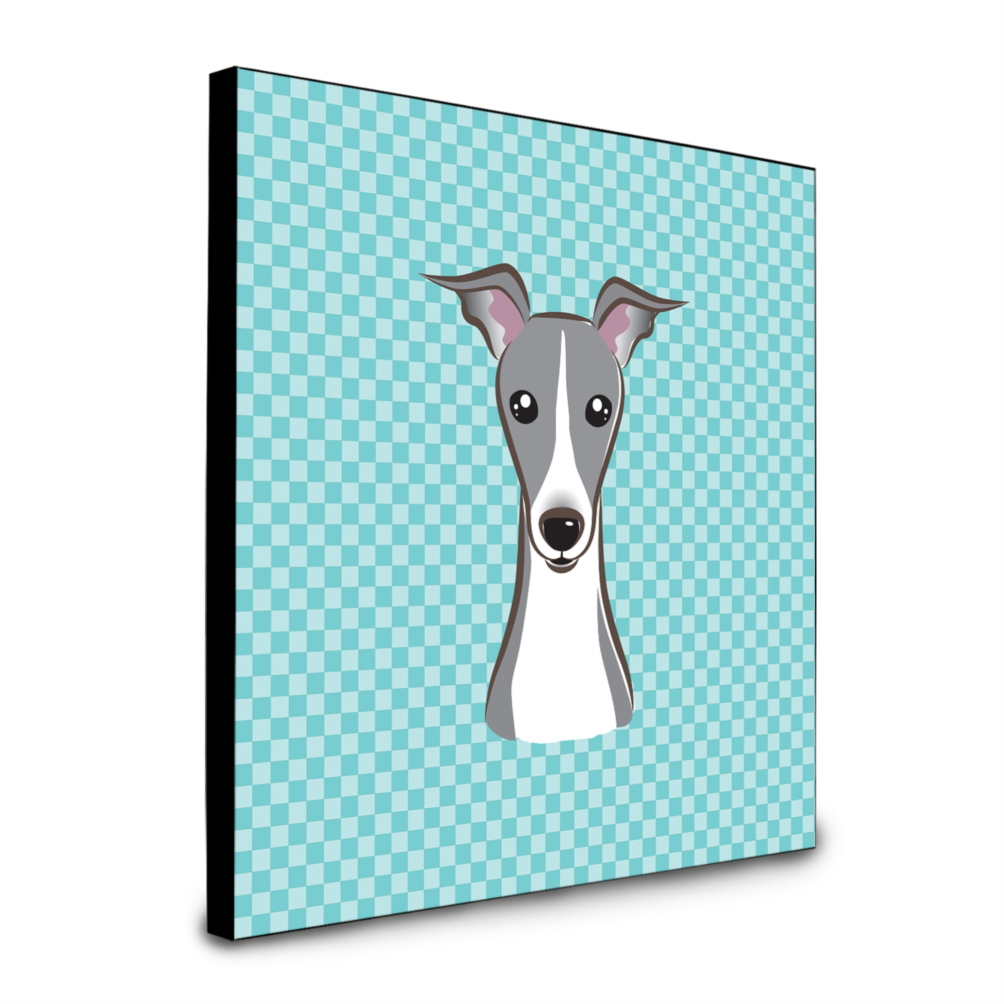 Greyhound Free standing MDF floor clock with an image of a dog.