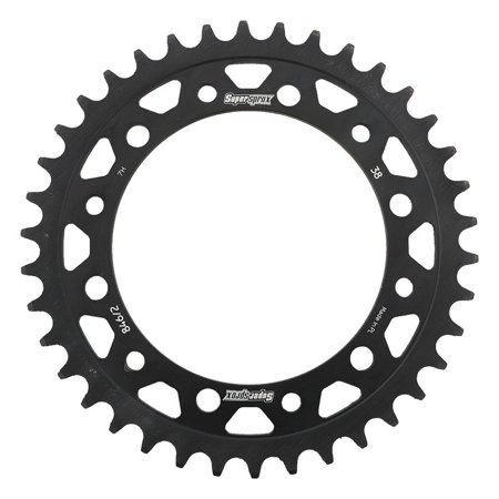 Supersprox RFE-8462-38-BLK Black Steel Sprocket 38T for Honda CB 300 F 15-17 2015 2016 2017, CBR 300 R 15 16 2015 2016, CBR 250 R 11 12 13 2011 2012 2013, XR 250 L 91-96 1991 1992 1993 1994 1995 (Used Honda Cbr 250 For Sale In Bangalore)
