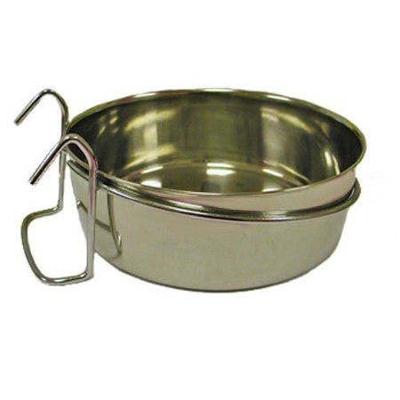 Indipets Stainless Steel Coop Cup with Hooks Multi-Colored