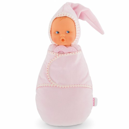"Babi Corolle(R) 2-in-1 Babiswaddle 12"" Doll Pink Cotton Flower by Corolle"