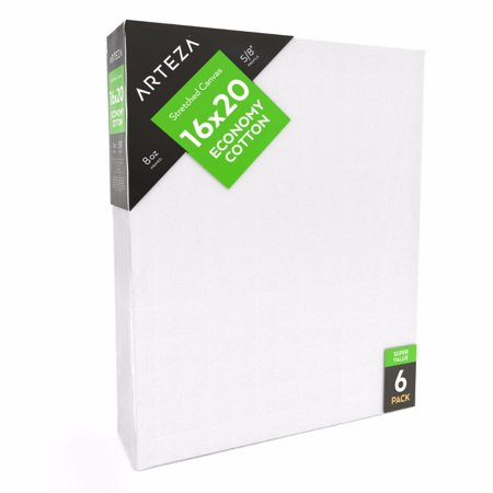 Arteza 16  X 20   Stretched Canvas  Pack Of 6