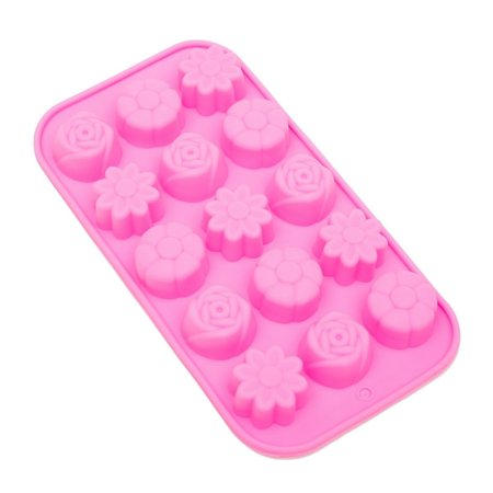 Pink Ice Cubes (THY COLLECTIBLES Soft Silicone Ice Cube Tray Ice Maker Mold Candy Mold Chocolate Mold)