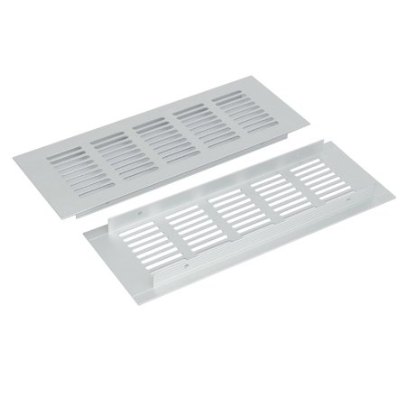 Aluminum Alloy Air Vent Louvered Grill Cover Ventilation Grille 225mmx80mm 2pcs (Louver Air Vent)