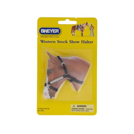 Miniature Show Halter (Breyer Tradtional Series #2490 Western Stock Show Halter w/ Lead Rope! -New-Factory Sealed)