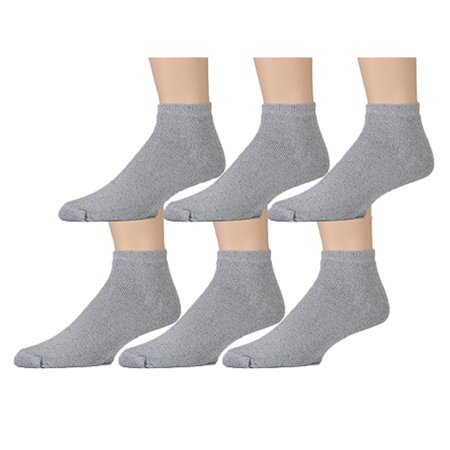 6 Pairs of Womens Sports Ankle Socks, Wholesale Bulk Pack Athletic Sock, by excell (Gray, - Women Wholesale