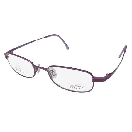 New Adidas A972 Unisex/Boys/Girls/Kids Designer Full-Rim Violet Contemporary Hip For Boys & Girls Frame Demo Lenses 47-18-130 Eyeglasses/Eye (Contemporary Glasses Frames)