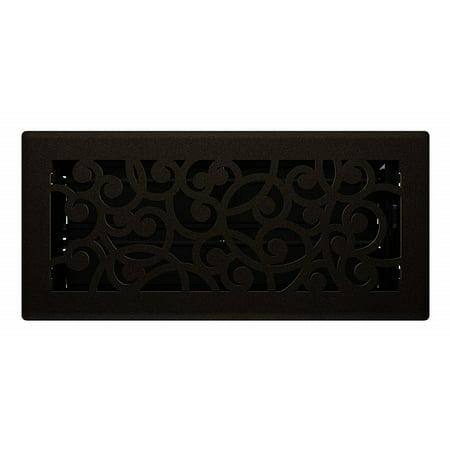 Wonderland Style Bronze Age Floor Register - 4 x 12 4x12 Victorian Floor Register