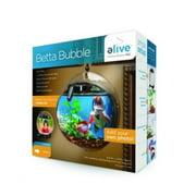 eLive Betta Bubble Wall Mounted Fish Aquarium, 0.5 Gal