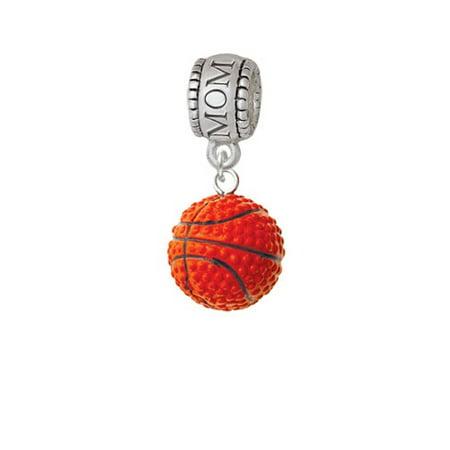 Resin Basketball - Mom Charm Bead