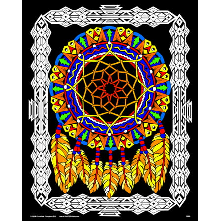 Velvet Dream Catcher - Fuzzy Velvet Coloring Poster 16x20 Inches ...