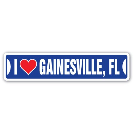 I LOVE GAINESVILLE, FLORIDA Street Sign fl city state us wall road décor - Party City Gainesville Fl