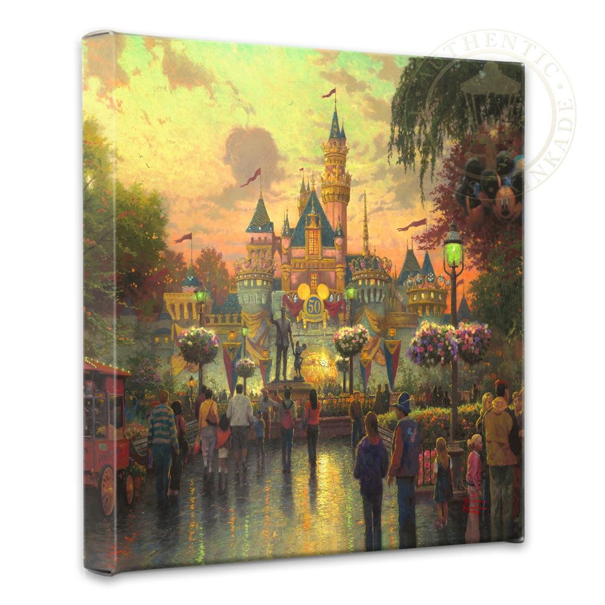 Thomas Kinkade Disneyland 50th Anniversary 14 x 14 Canvas Wrap