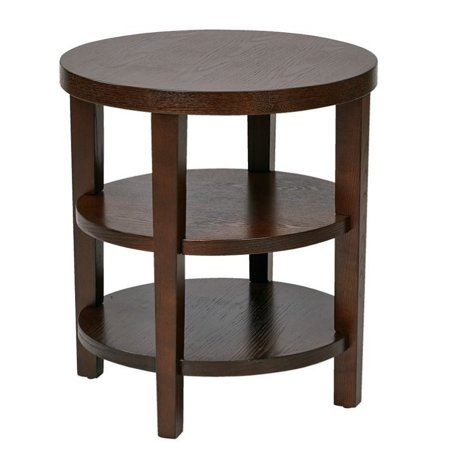 avenue six merge 20 round end table in espresso. Black Bedroom Furniture Sets. Home Design Ideas