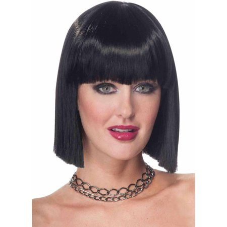 Black Vibe Wig Adult Halloween Accessory