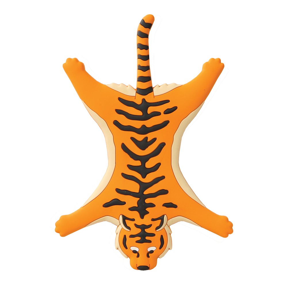 Wild Orange Tiger Bendable Magnetic Holder W/Card Pack - Cell Phone Stand