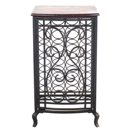 Open Design Wine Storage Cabinet with Wood Table Top