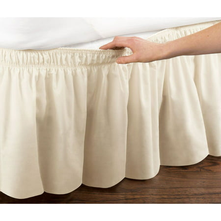 Wrap Around Bed Skirt Dust Ruffle 18 Drop Twin Extra Long