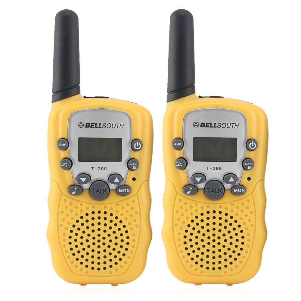 Crony T_388 UHF Band 3KM Small Walkie Talkie Yellow _2 Pcs_