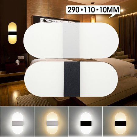 Modern Acrylic Led Wall Sconces Light Up Down Cube Indoor Outdoor Sconce Lighting Bedside Night Lamp For Hallway Living Room Pathway Staircase