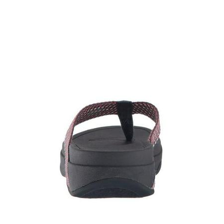 2166b0045c1  nbsp Fitflop Surfa nbsp Women s T-Strap Wedge Sandal H84-442 - Walmart.com