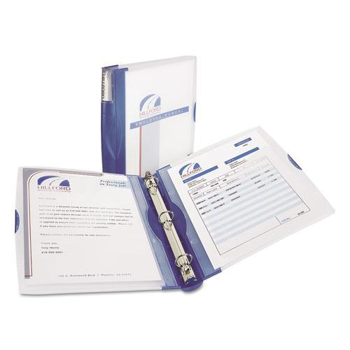 """Avery 17331 Silhouette View Binder with Gap Free Round Rings, 1"""" Capacity, Light Blue"""