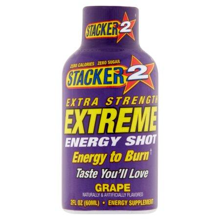 Stacker 2 Grape Extra Strength Energy Shot 2 Fl Oz