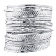 Lux Accessories SilverTone Metal Casted Aztec Etched Boho Bracelet Bangle Set