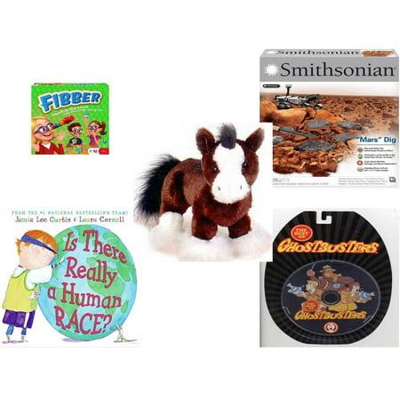 Children's Gift Bundle [5 Piece] -  Flibber Board  - NSI Smithsonian Mars Dig Kit  - Webkinz Clydesdale Horse  9
