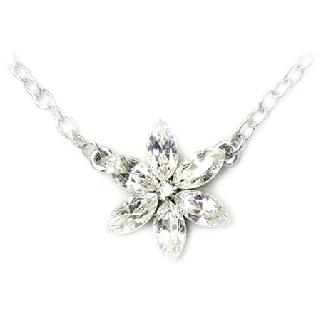 - Faship Gorgeous Rhinestone Crystal Flower Daisy Necklace