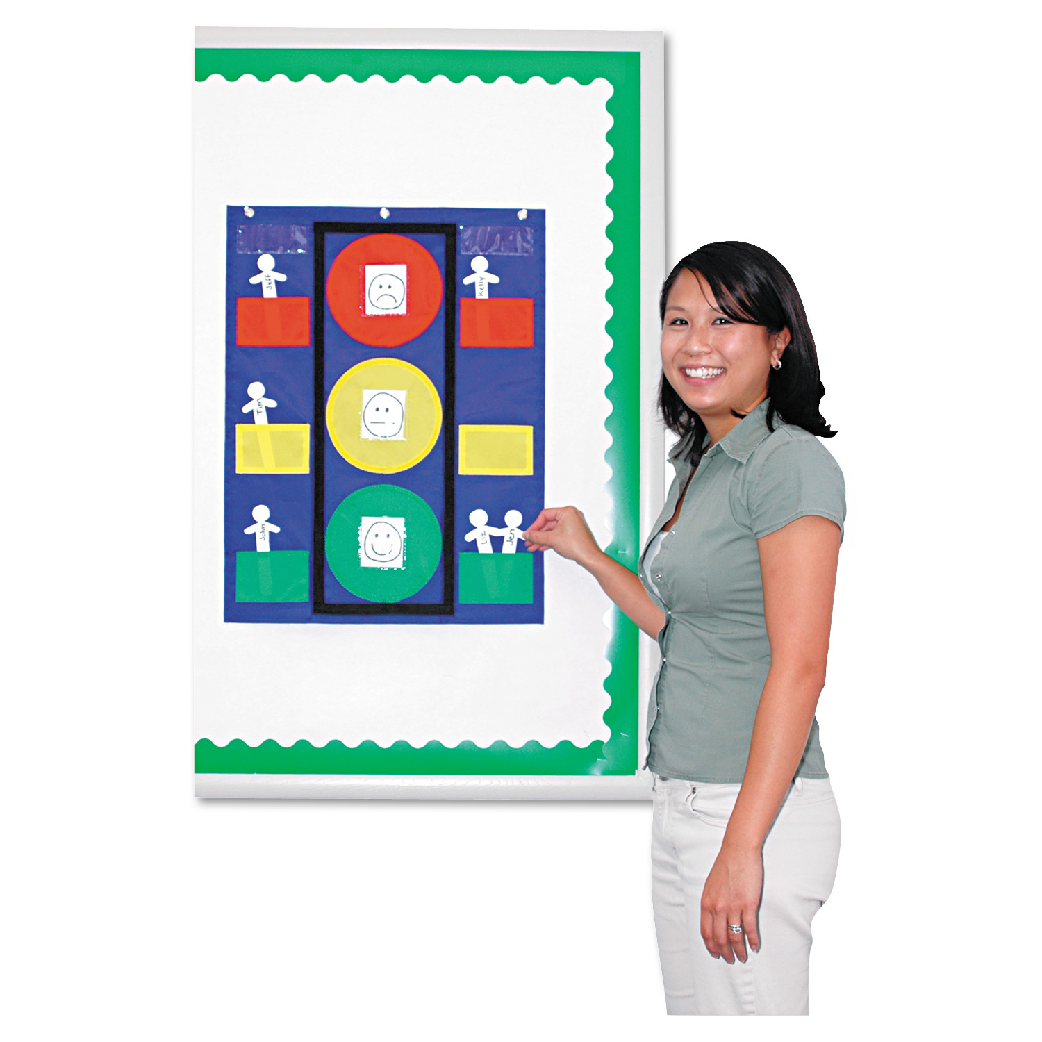 "Carson-Dellosa Publishing Stoplight Pocket Chart, 19 3/4"" x 26"""