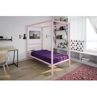 DHP Modern Canopy Bed, Multiple Sizes, Multiple Colors