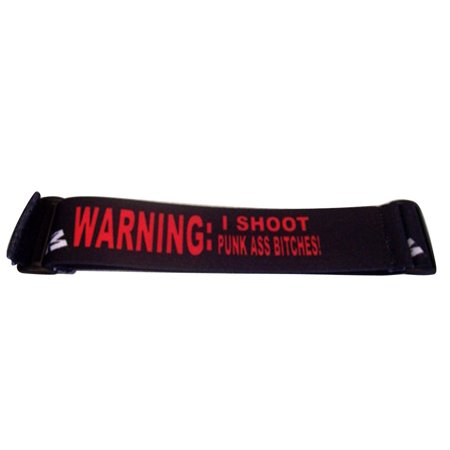 KM Paintball Goggle Strap - Warning